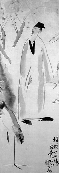 代表林风眠早期艺术风格的典型作品《梅妻鹤子图》将